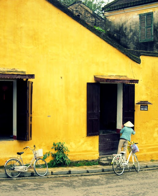 A yellow house in Hoi An, Vietnam