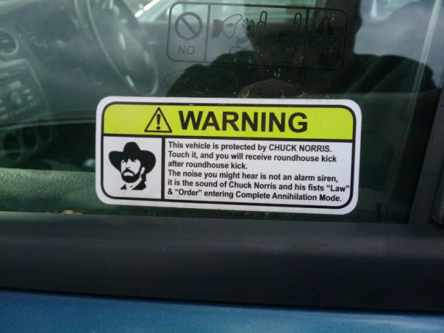 Chuck Norris car protection