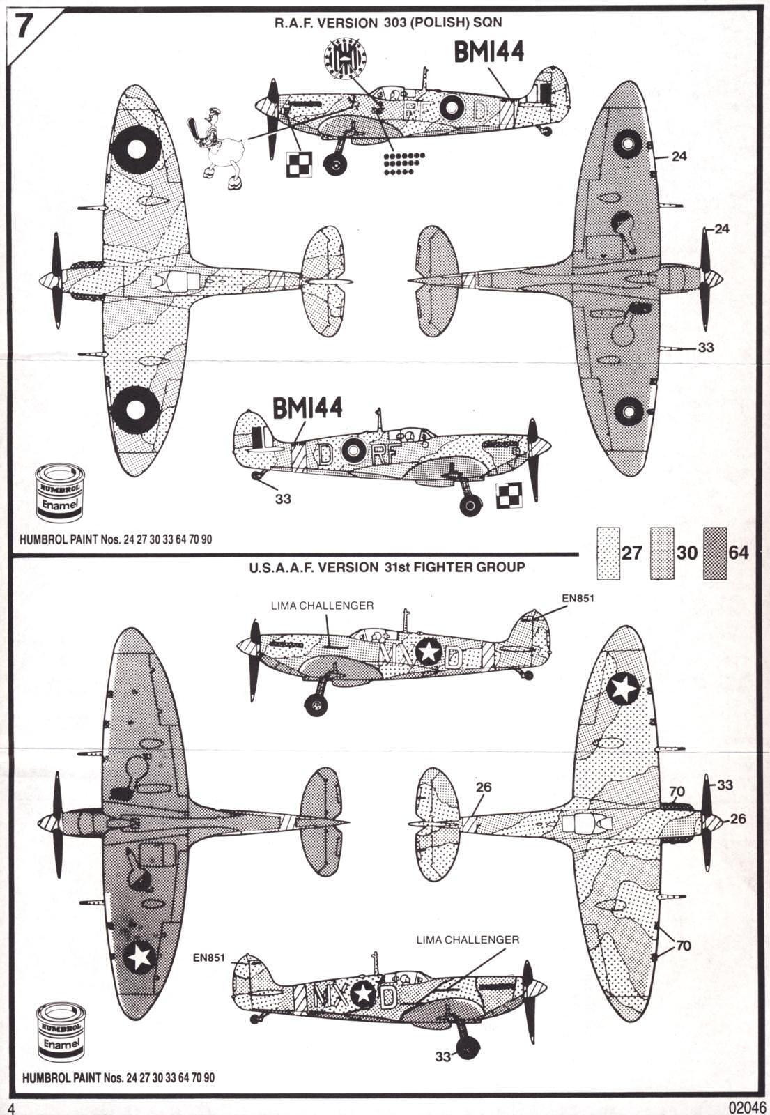 Airfix 1 72 Supermarine Spitfire Mk Vb A A