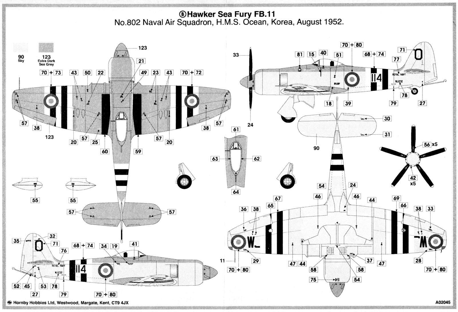 Airfix 1 72 Hawker Sea Fury Fb 11 A