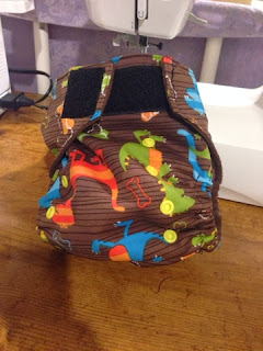 diy one size pocket cloth diaper with hook and loop closure