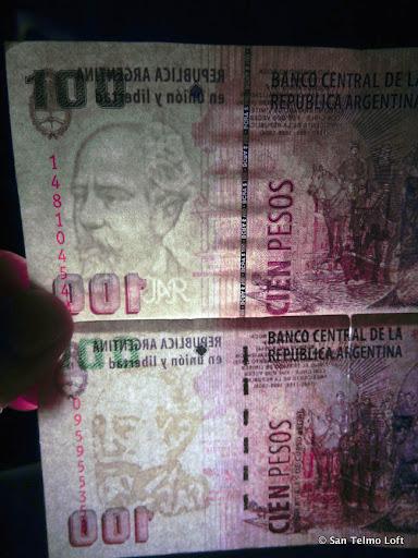 Fake vs. Real Argentine Pesos