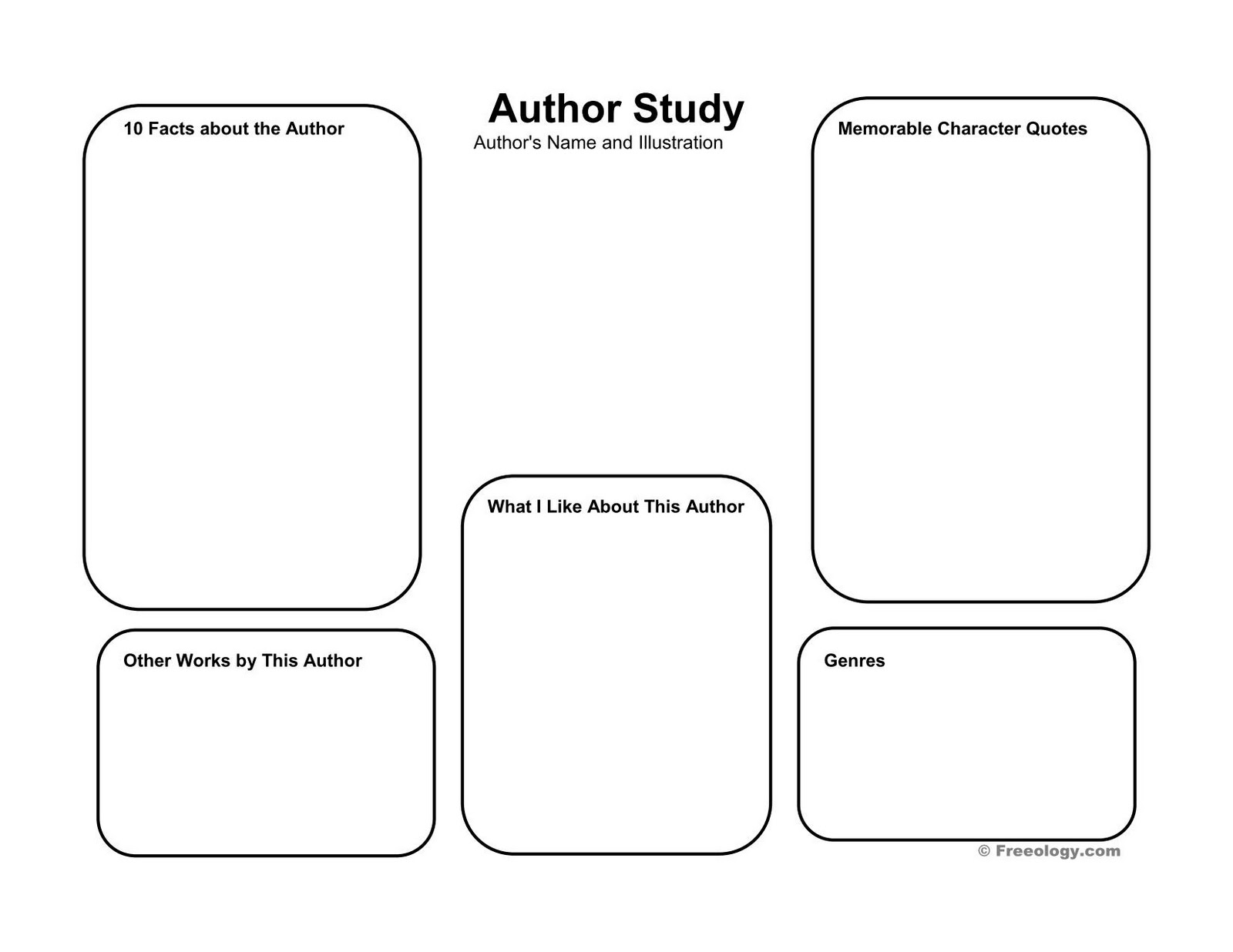 Authors Study Worksheets