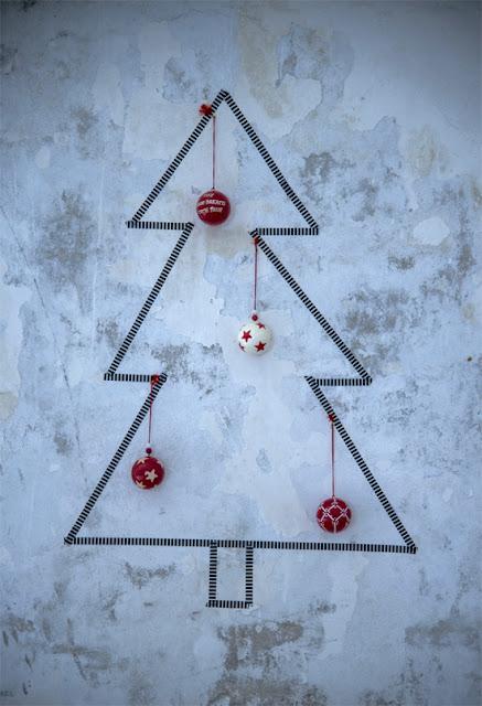 Árbol de Navidad con washi tape.