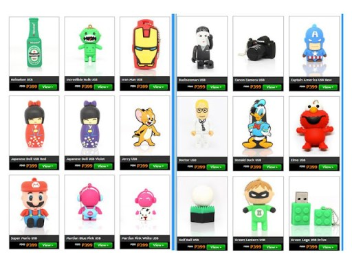 Christmas Gift ideas 2012 - USB collection