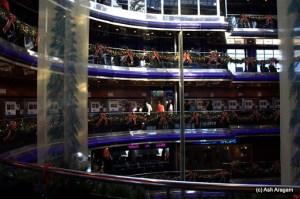 Surrounding the lobby