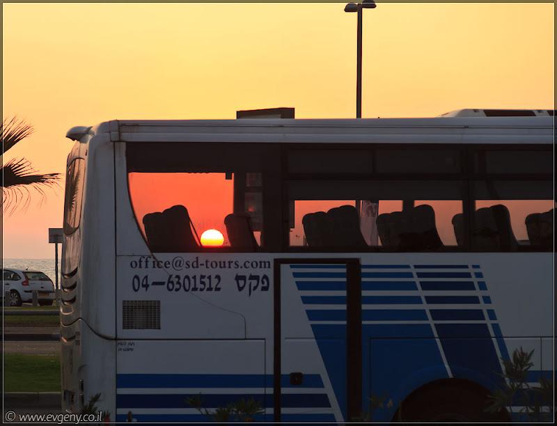 Одно фото / Израиль, Тель Авив. Шабат... закат... приехали