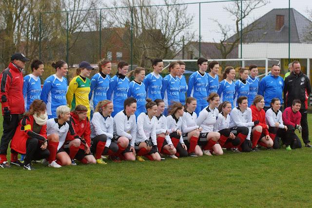SV De Ruiter dames tegen Club Roeselare dames