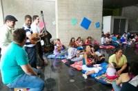 Una de las actividades que se ofrecieron este fin de semana estuvo dirigida a bebés de 0 a 12 meses, y estuvo en manos del ensamble de música venezolana, Rudal