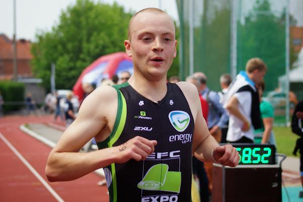 Eduard Verstraete - 1/8e triatlon Roeselare - 1 juni 2014