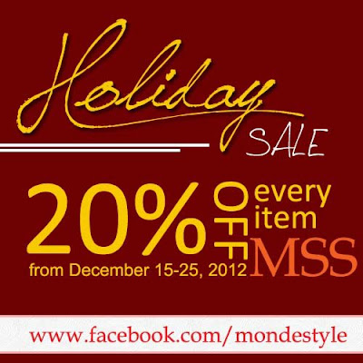 Online Shops with Holiday Sale - Monde Style Shop - 20% off every items