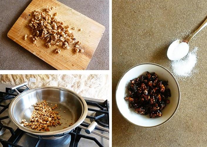 pudding de graines de chia, noix caramélisées, petit déjeuner équilibré, graines de chia au lait de coco, recette avec graines de chia