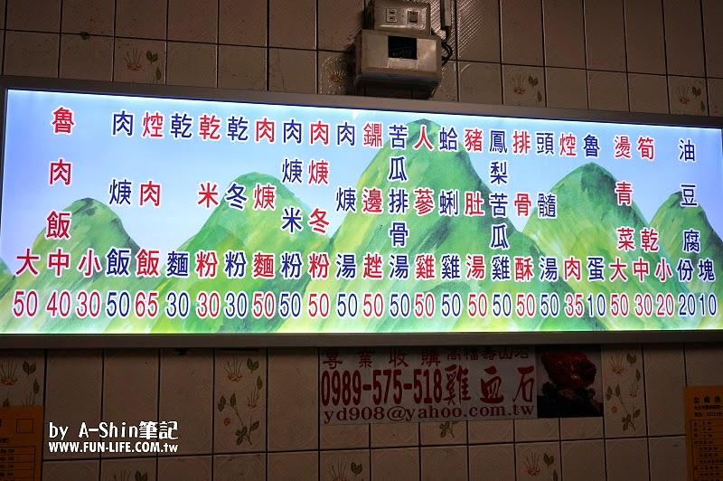 金峰魯肉飯 菜單Menu