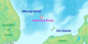 Lioncourt Rocks: Other names: Dokdo, Takeshima, Tok Islets