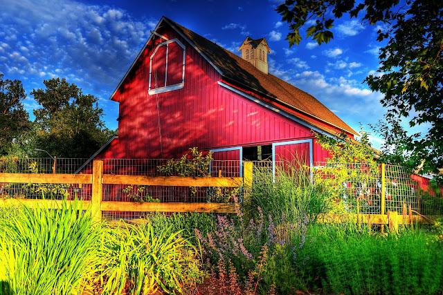 Sunset Pickering Barn in Issaquah, WA