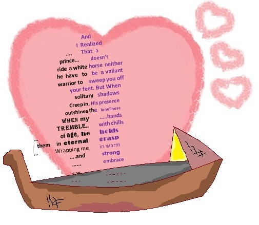 love shape poem