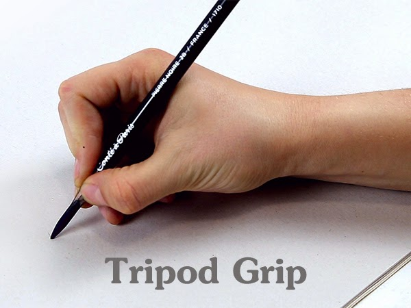 drawing tripod grip