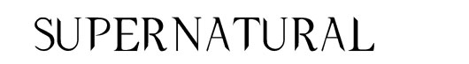 Supernatural Night logo font seriado Sobrenatural