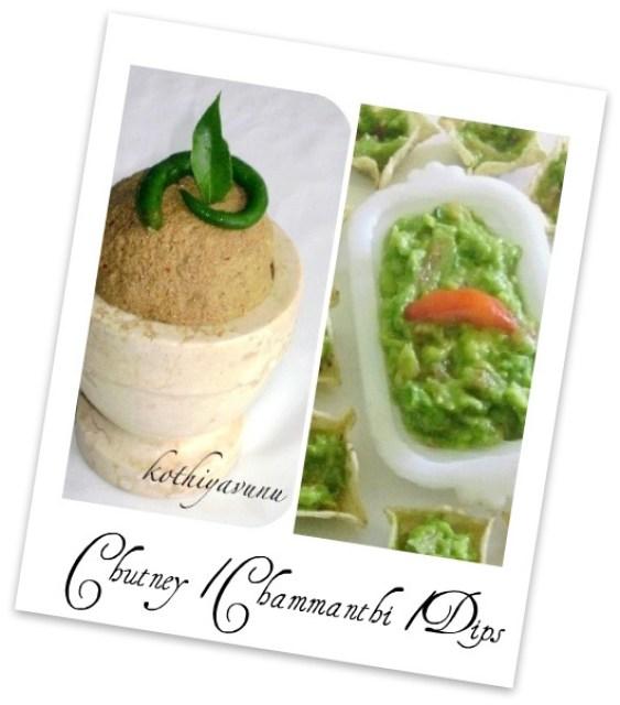 Veg-Recipes -Chutney -Chammanthi -Dips |kothiyavunu.com