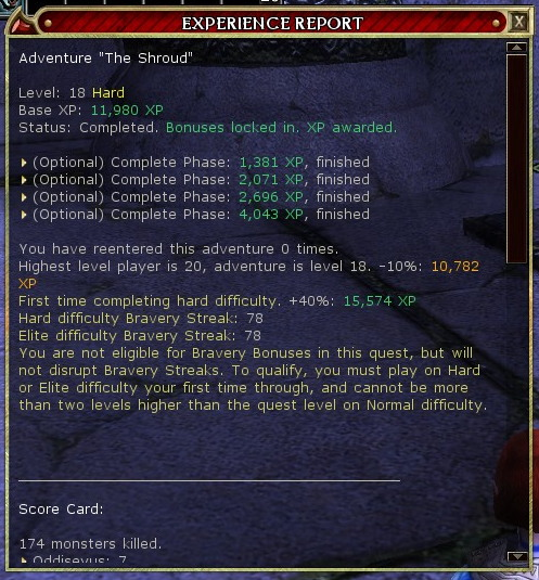 Maidae Shroud quest report