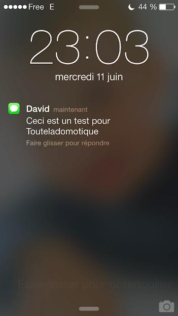 textodomo A relire : Notification SMS avec Free  avec la Eedomus