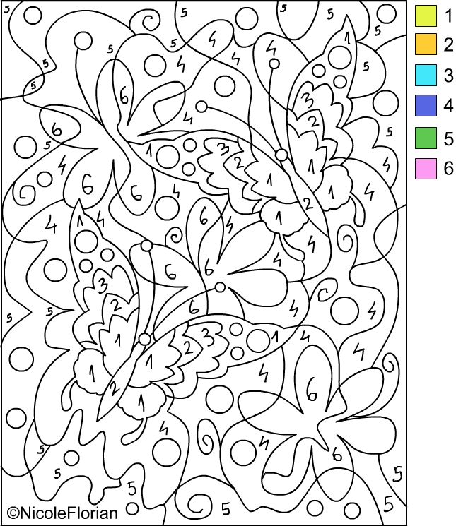 color by number coloring pages title