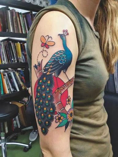 peacock tattoo designs