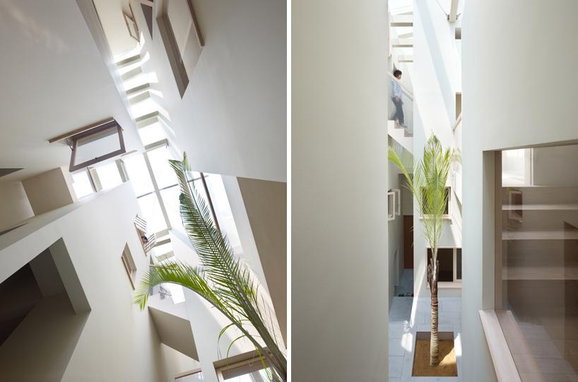 *建築師 Fujiwarramuro 居家住宅室內的戶外空間:日本 goido 中央庭園! 2