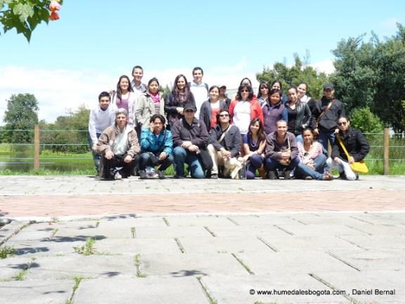 Algunos de los participantes del curso Humedales de Bogotá