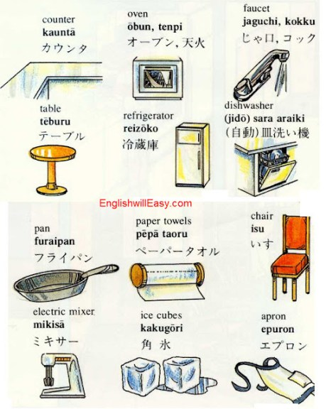 Kitchen -English Japanese Picture Dictionary