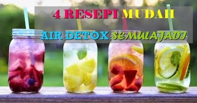 4  resepi air detox semulajadi