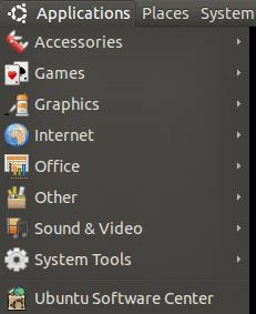 Ubuntu Applications Menu