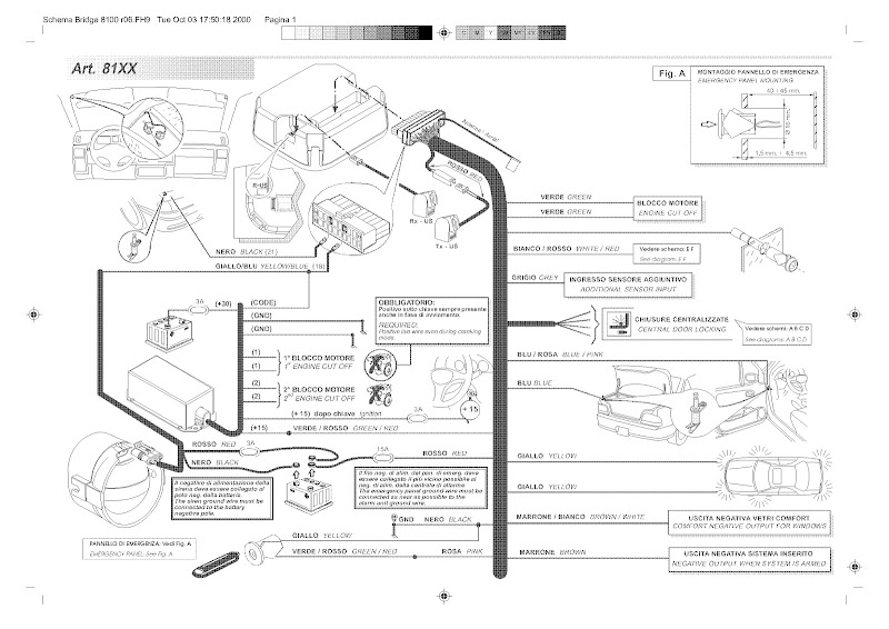 cobra 4160 alarm wiring diagram