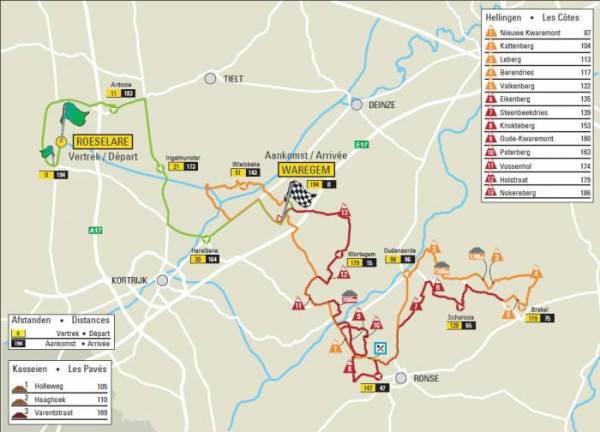Parcours Dwars door Vlaanderen 2013