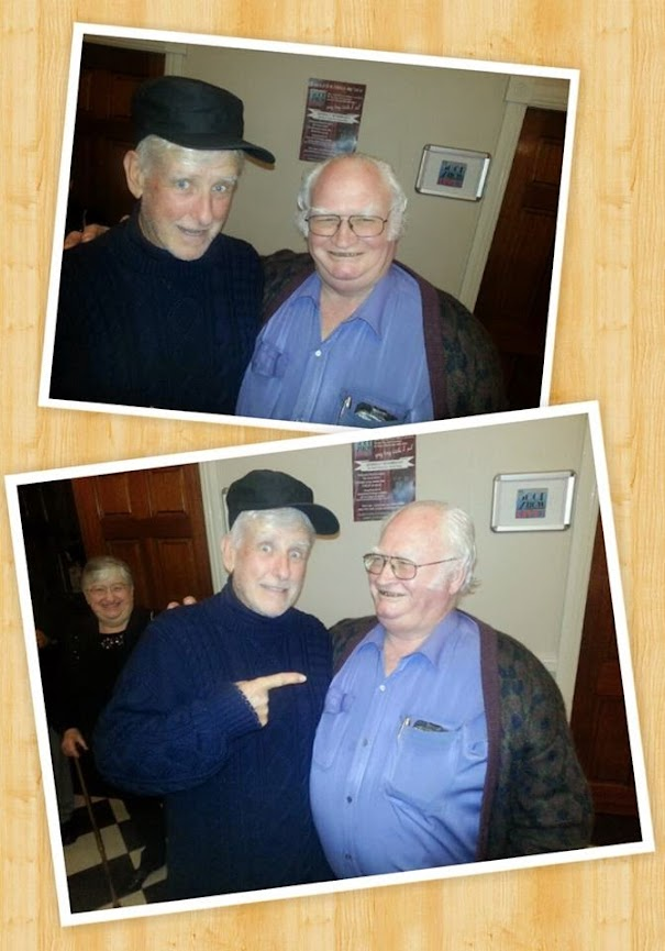 photo of Jim W., one of our audience, on the left with our very own Rob (Spike) Queree, cuts a fine figure as a Harry Secombe look-alike don't your think?