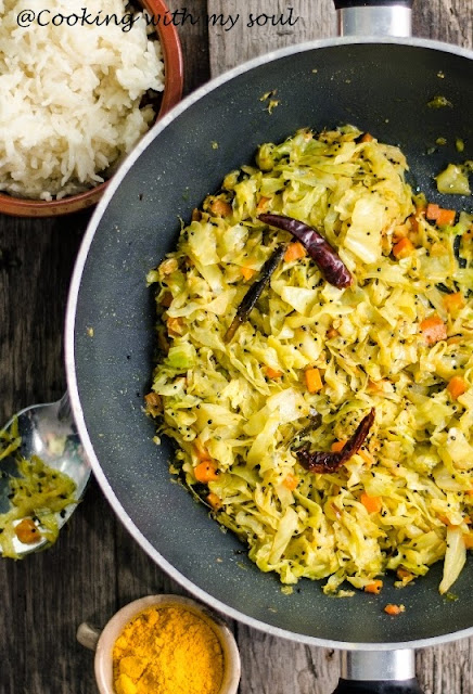 Curry cu varza, morcovi si cocos