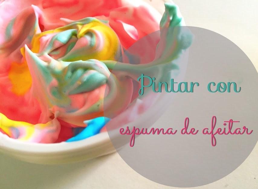 manualidades-pintar-pintura-colorante-espuma-afeitar-texturas