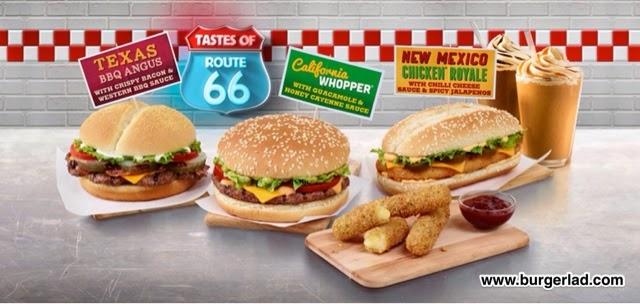 Burger King Tastes of Route 66 California Whopper