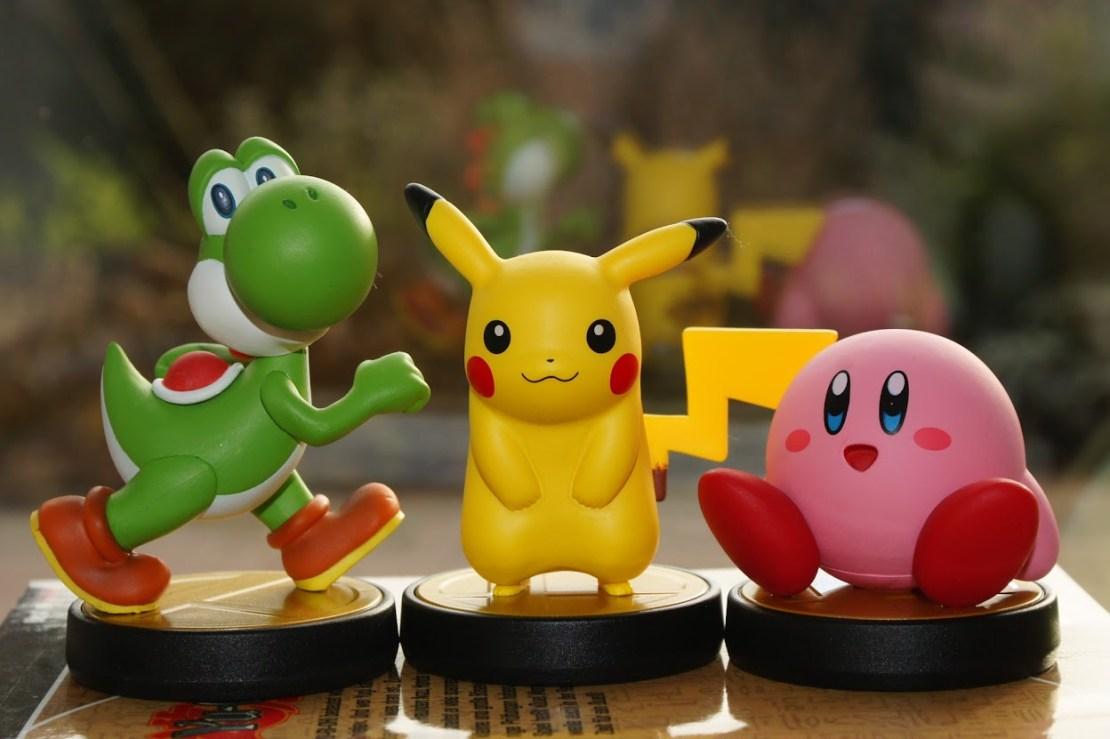 Amiibo Yoshi Kirby Pikachu