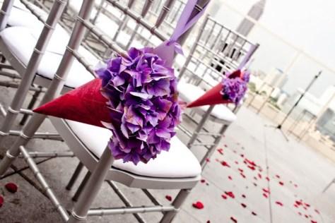 Hydrangea wedding cone