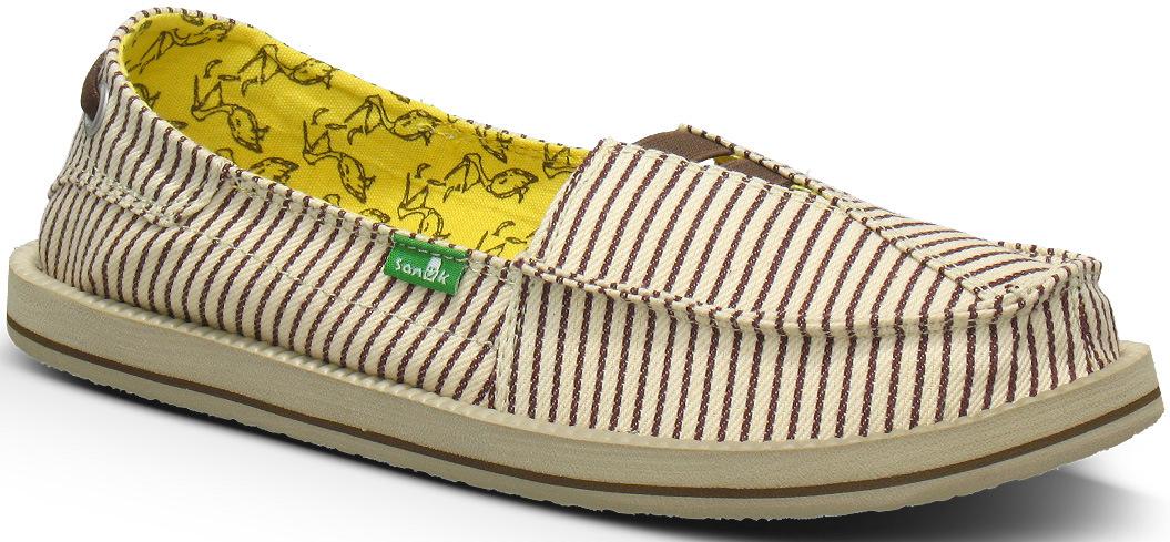 *Sanuk 春風直條紋懶人鞋:幸福的送子鳥與女孩們打招呼喔! 1