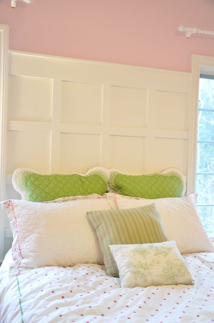 Wood Paneled Headboard