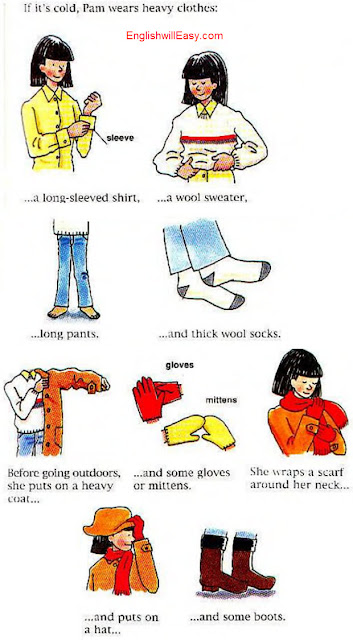 Getting dressed - Women - English Picture Dictionary for Everyday Activities