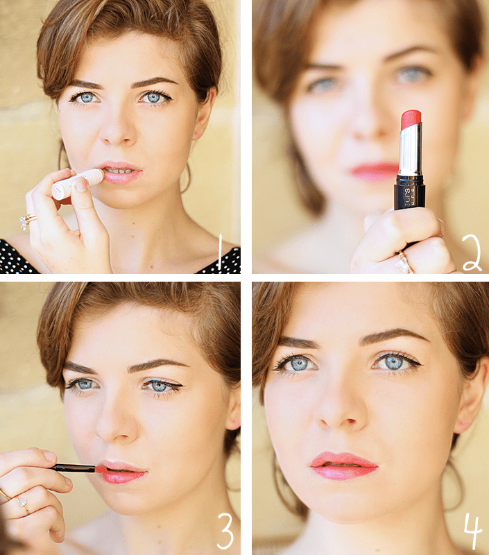 perfectly defined red lip, how to make a lipstick hold longer, long-lasting lipstick, mastering the bright lip, make up tutorial red lip