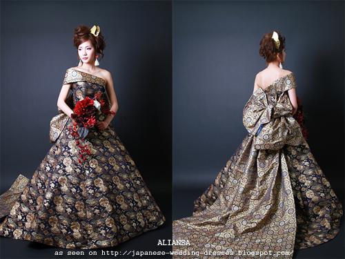 Wedding Gowns Site: Aliansa's Modern Kimono Fabric Wedding