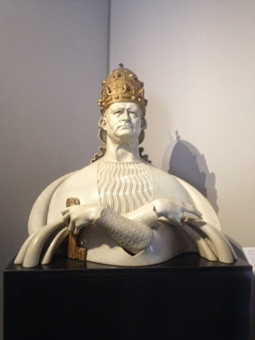 A regal bust in the Vatican