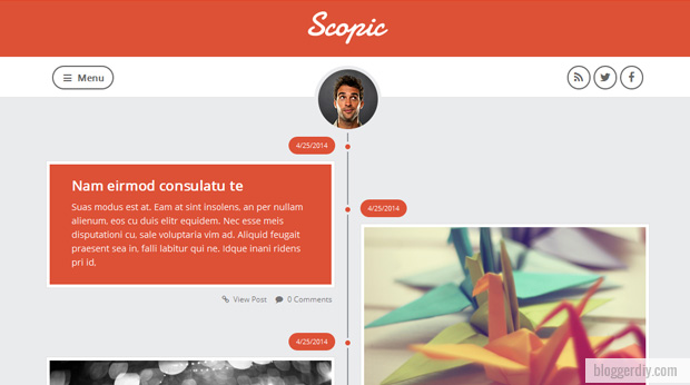 Scopic Blogger template