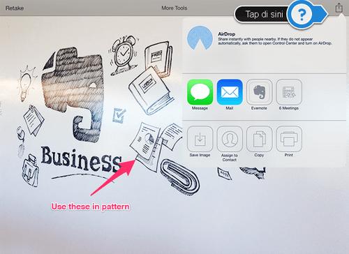 Menggunakan AirDrop di Evernote iOS7