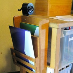 containing homeschool clutter