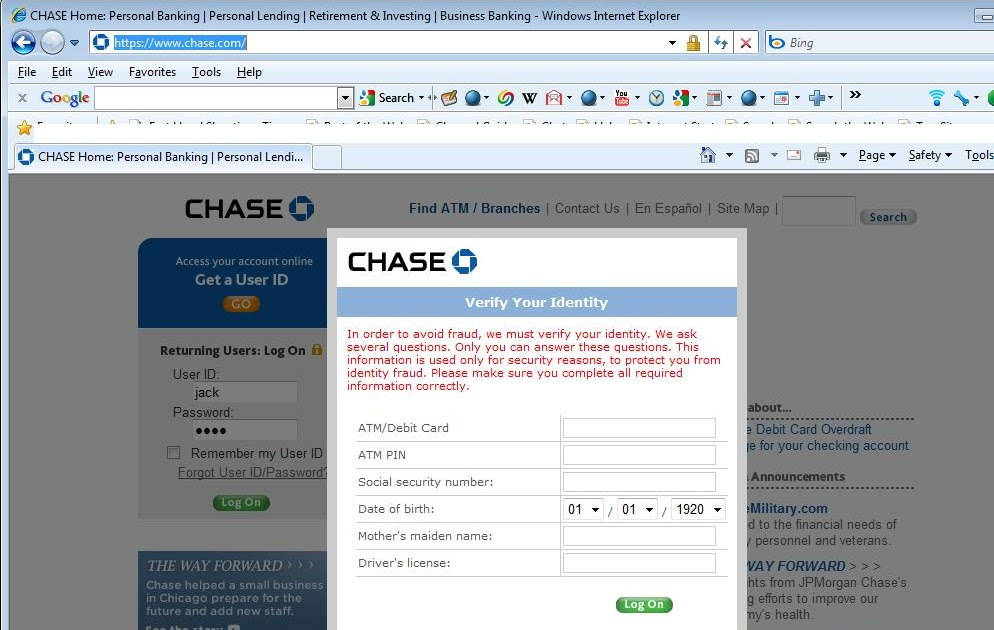 Chase Personal Banking Phone Number